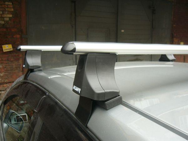 Багажник на крышу Nissan Tiida, Атлант, аэродинамические дуги
