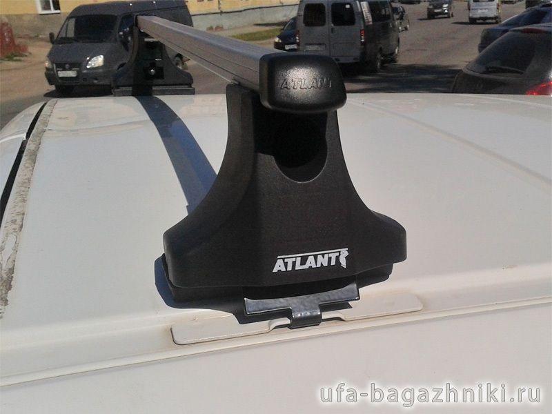 Багажник на крышу Peugeot Partner 1997-2008, Атлант, прямоугольные дуги