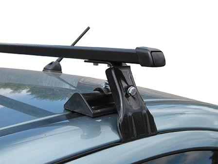 Универсальный багажник на крышу Муравей Д-1, на Toyota Auris E150 2006-12, стальные прямоугольные дуги