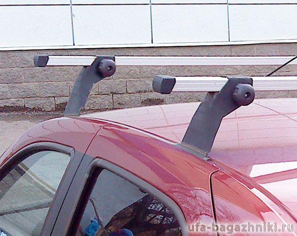 Багажник на крышу на Renault Sandero (Атлант, Россия), алюминиевые дуги