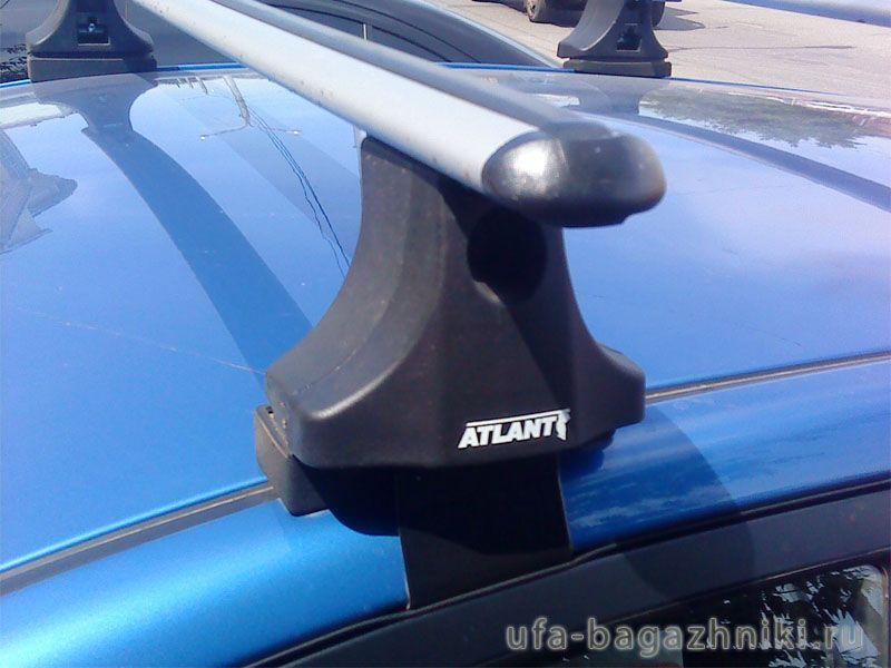Багажник на крышу Kia Rio 2005-11, sedan/hatchback, Атлант, аэродинамические дуги