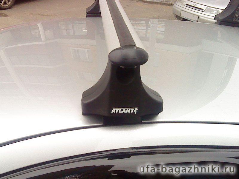Багажник на крышу Nissan Almera N15/N16, Атлант, аэродинамические дуги