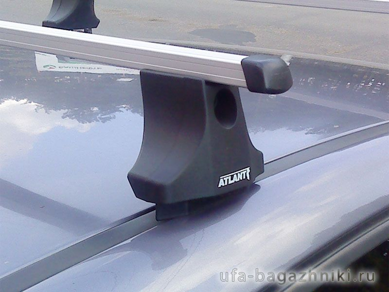 Багажник на крышу Citroen С4 2004-11, Атлант, прямоугольные дуги