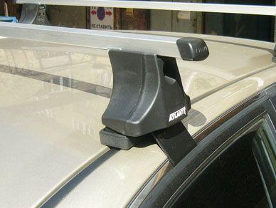 Багажник на крышу Hyundai Sonata 5, Атлант, прямоугольные дуги
