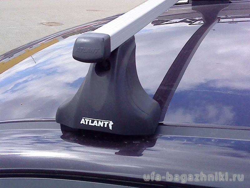 Багажник на крышу Mazda 6, Атлант, прямоугольные дуги, опора E
