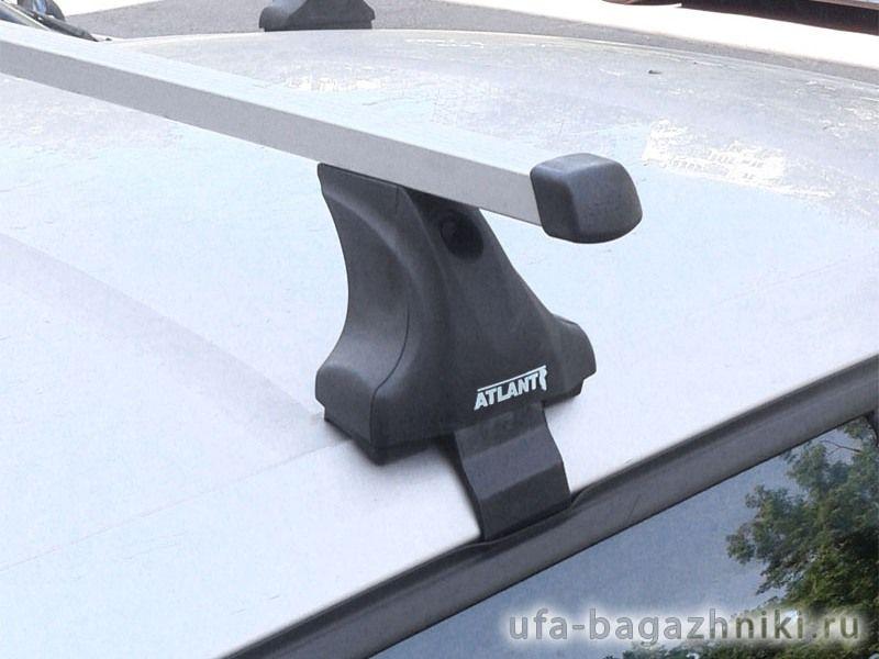 Багажник на крышу Renault Megane 3 hatchback, Атлант, прямоугольные дуги, опора Е