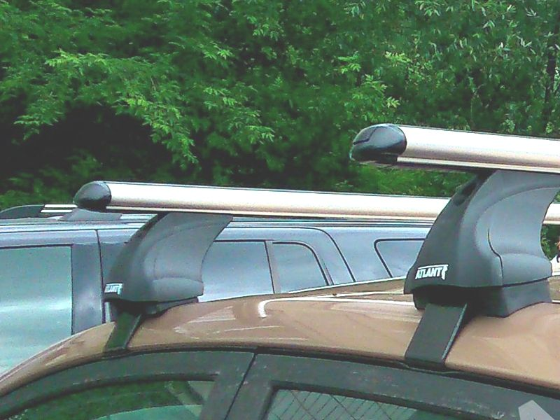 Багажник на крышу Kia Picanto 2011-..., Атлант, аэродинамические дуги