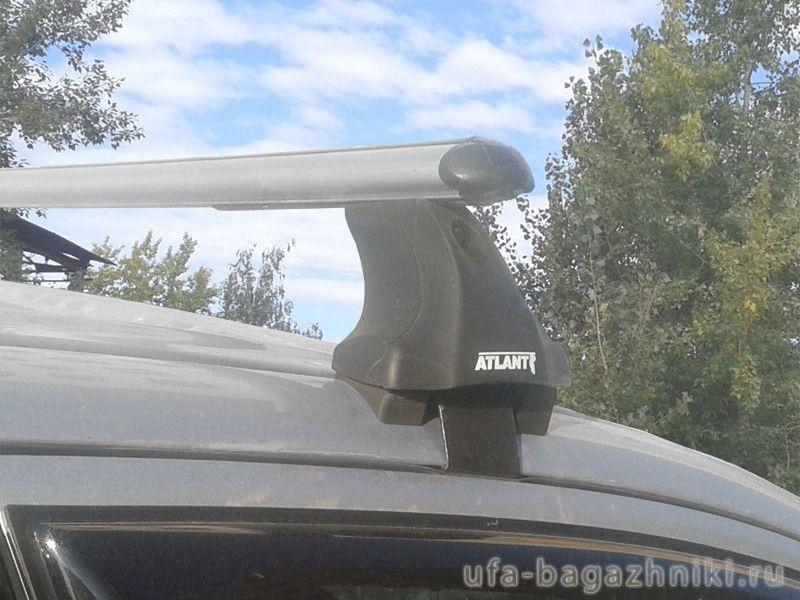 Багажник на крышу Mitsubishi Outlander 3 (без рейлингов), Атлант, аэродинамические дуги