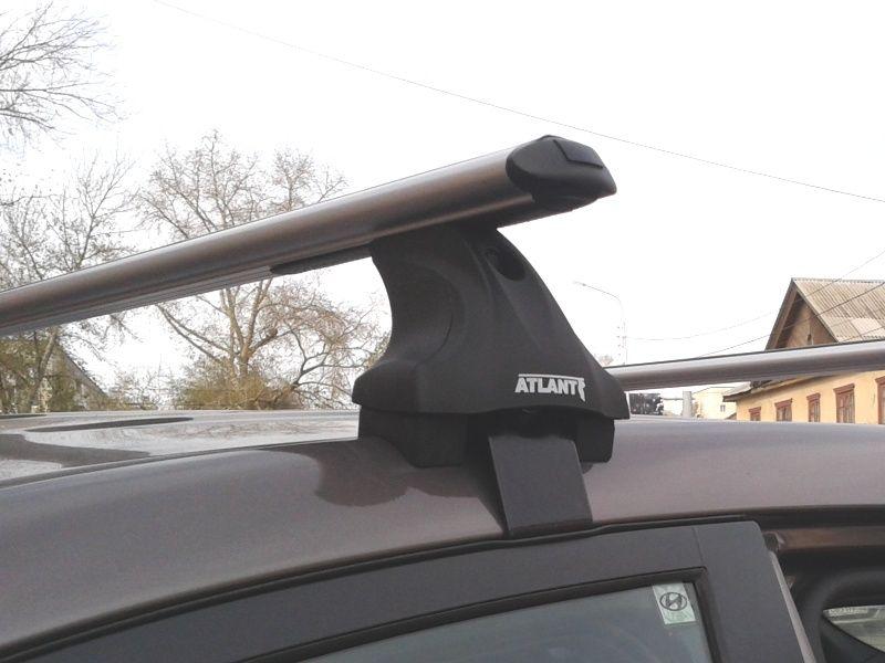 Багажник на крышу Hyundai i40, Атлант, аэродинамические дуги