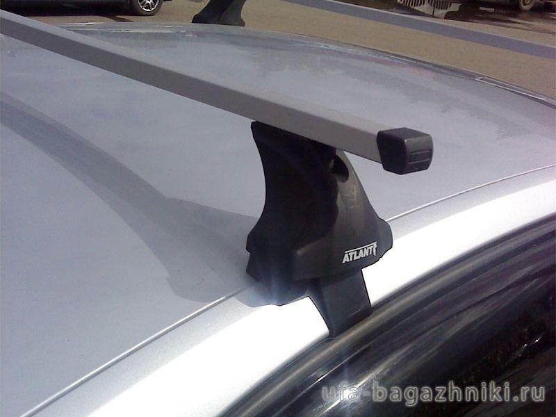 Багажник на крышy Kia Cerato YD 2013-..., Атлант, прямоугольные дуги, опора E