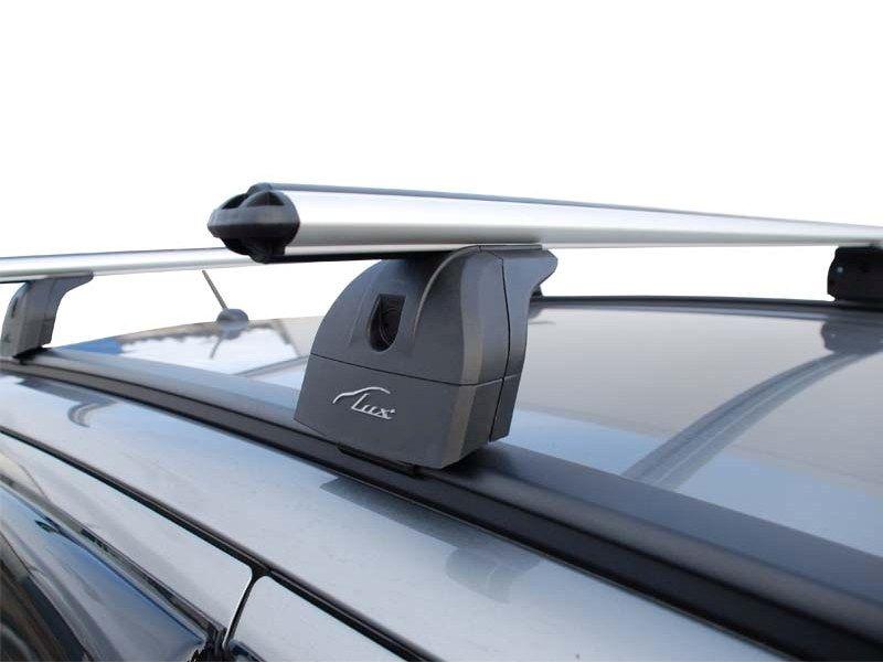 Багажник на крышу Peugeot 4008, Lux, аэродинамические дуги на интегрированные рейлинги
