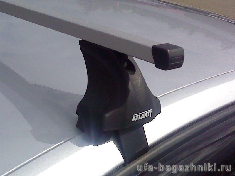 Багажник на крышу Volkswagen Polo sedan / hatchback, Атлант: прямоугольные дуги и опоры типа Е