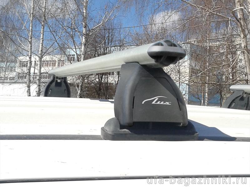 Багажник на крышу Mitsubishi Outlander 3 (без рейлингов), Lux, аэродинамические дуги 53 мм