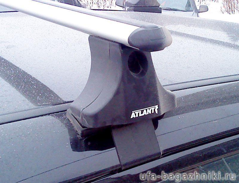 Багажник на крышу на Mitsubishi L200 2007-15, (Атлант, Россия), аэродинамические дуги