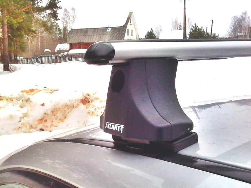 Багажник на крышу Suzuki Liana universal, Атлант, аэродинамические дуги