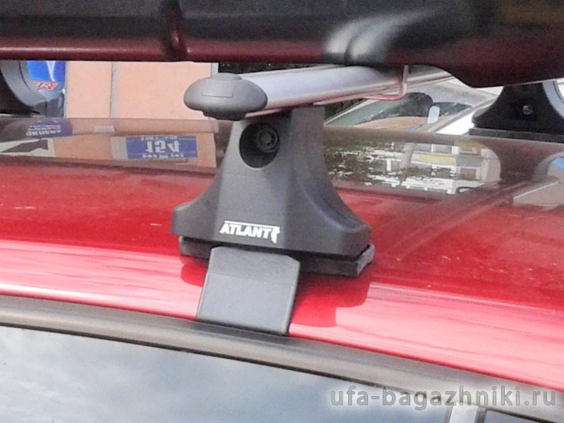Багажник на крышу Volkswagen Polo hatchback 2009-..., Атлант, аэродинамические дуги
