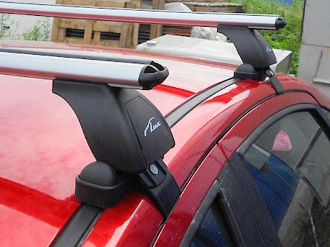Багажник на крышу Daewoo Matiz, Lux, аэродинамические дуги (53 мм)